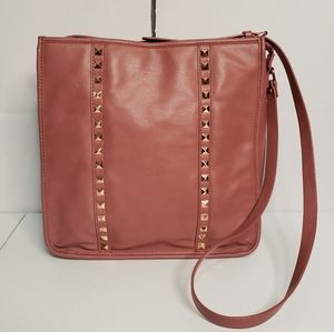 Forever 21 Mauve Rose Gold Studs Faux Leather Bag